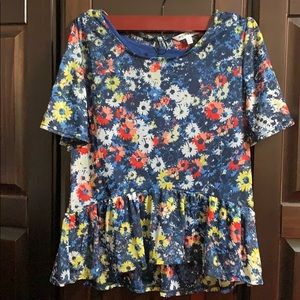 Girls Floral Blouse